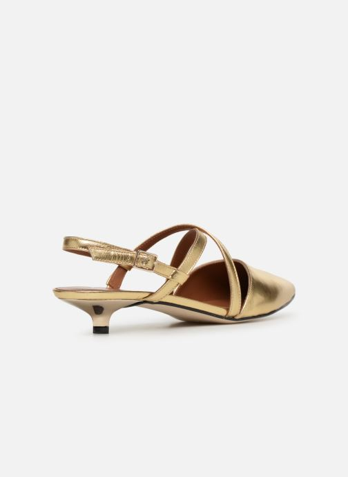 Ballet pumps Made by SARENZA Pastel Affair Ballerines #1 Bronze and Gold front view