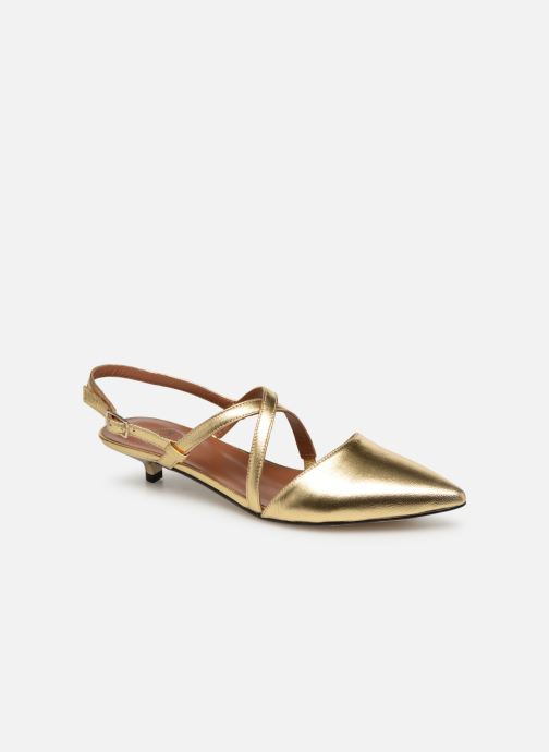 Ballet pumps Made by SARENZA Pastel Affair Ballerines #1 Bronze and Gold view from the right