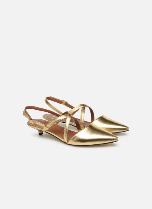 Ballet pumps Made by SARENZA Pastel Affair Ballerines #1 Bronze and Gold back view
