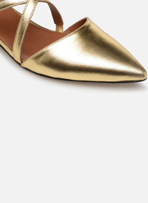 Ballet pumps Made by SARENZA Pastel Affair Ballerines #1 Bronze and Gold view from the left
