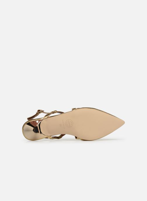 Ballet pumps Made by SARENZA Pastel Affair Ballerines #1 Bronze and Gold view from above