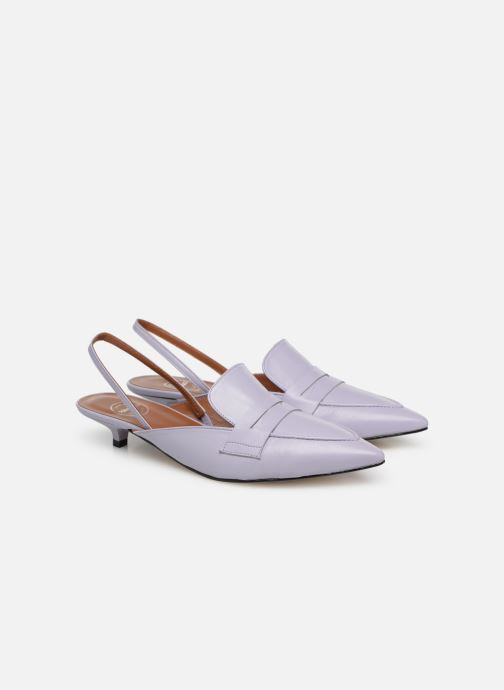 Loafers Made by SARENZA Pastel Affair Mocassins #5 Purple back view