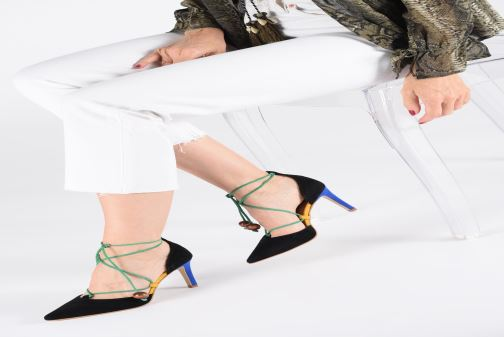 High heels Made by SARENZA UrbAfrican Escarpins #1 Multicolor view from underneath / model view