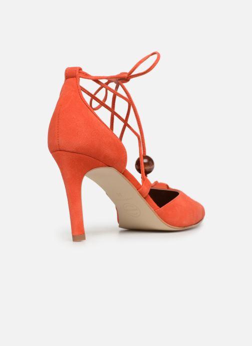 Zapatos de tacón Made by SARENZA UrbAfrican Escarpins #1 Naranja vista de frente