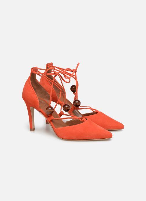 Zapatos de tacón Made by SARENZA UrbAfrican Escarpins #1 Naranja vistra trasera