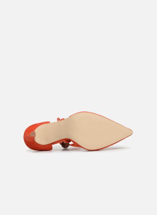 Zapatos de tacón Made by SARENZA UrbAfrican Escarpins #1 Naranja vista de arriba