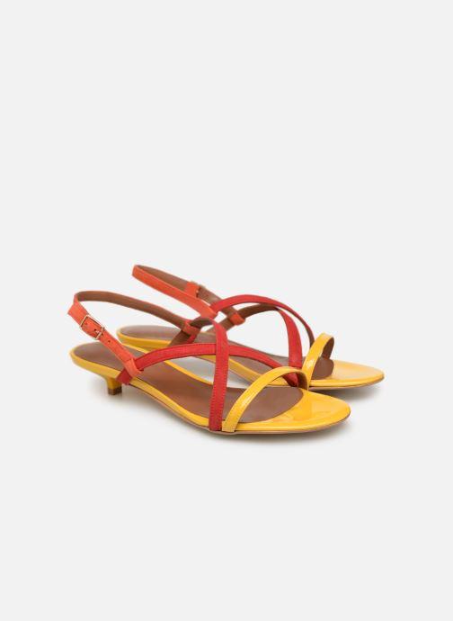 Made Sandales Nu Urbafrican Plates3 pieds Multi Jaune By Sarenza Rouge Orange Et Cuir yv8mnwOPN0