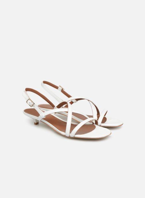 Sandales et nu-pieds Made by SARENZA UrbAfrican Sandales Plates #3 Blanc vue derrière
