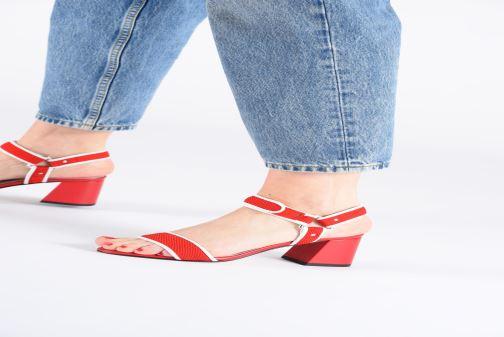 Sandales et nu-pieds Made by SARENZA Sport Party Sandales à Talons #1 Rouge vue bas / vue portée sac