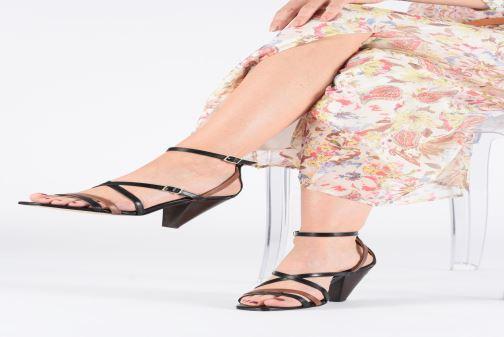 Sandales et nu-pieds Made by SARENZA UrbAfrican Sandales à Talons #6 Multicolore vue bas / vue portée sac