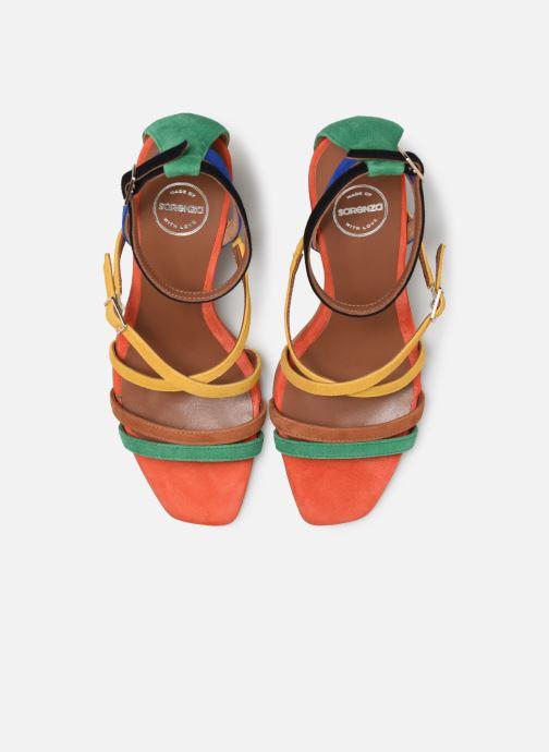 Sandali e scarpe aperte Made by SARENZA UrbAfrican Sandales à Talons #6 Multicolore modello indossato