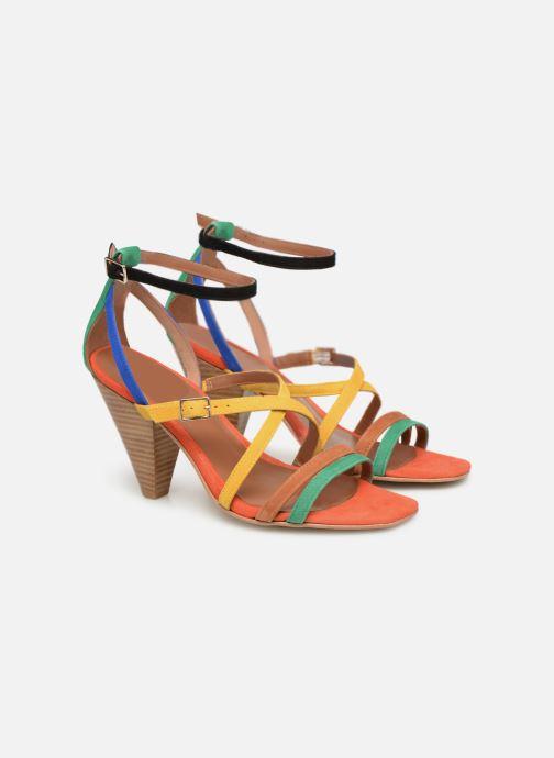 Sandales et nu-pieds Made by SARENZA UrbAfrican Sandales à Talons #6 Multicolore vue derrière