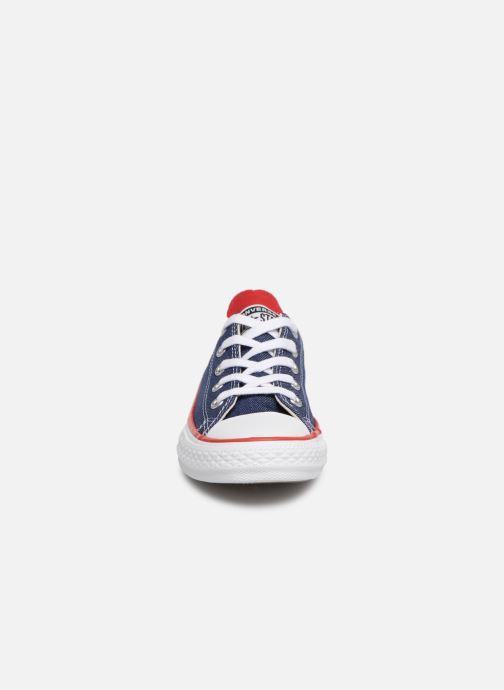 Baskets Converse Chuck Taylor All Star Ox Sucker for Love Bleu vue portées chaussures