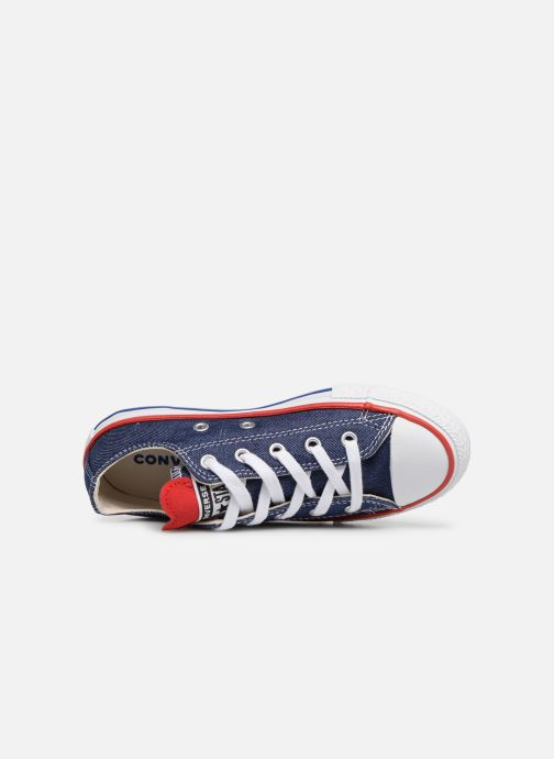 Baskets Converse Chuck Taylor All Star Ox Sucker for Love Bleu vue gauche