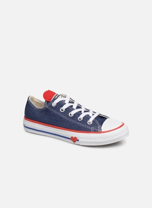 Baskets Converse Chuck Taylor All Star Ox Sucker for Love Bleu vue détail/paire