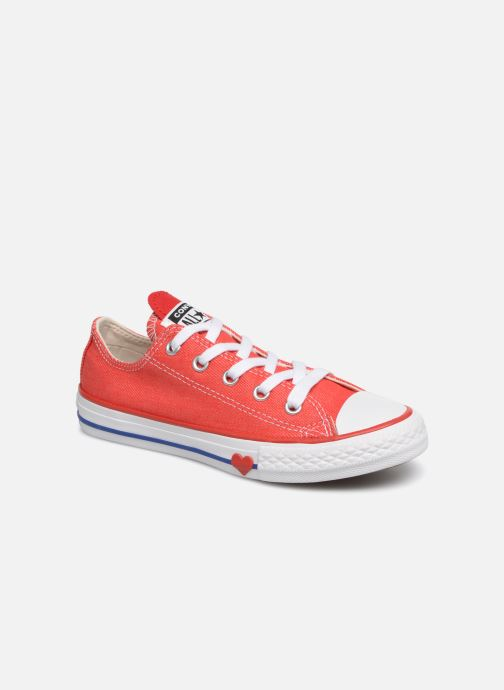 Baskets Converse Chuck Taylor All Star Ox Sucker for Love Rouge vue détail/paire