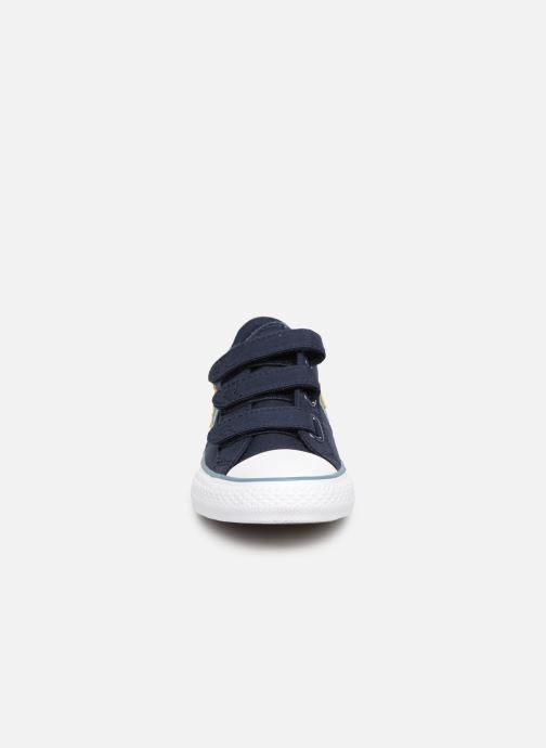 Sneaker Converse Star Player 3V Ox Spring Essentials blau schuhe getragen