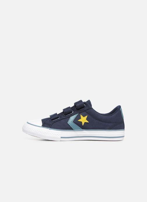 Sneaker Converse Star Player 3V Ox Spring Essentials blau ansicht von vorne
