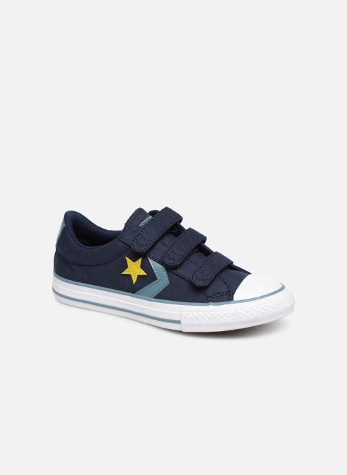 6809299b4cde1 Baskets Converse Star Player 3V Ox Spring Essentials Bleu vue détail paire