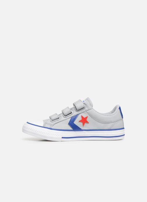 Sneaker Converse Star Player 3V Ox Spring Essentials grau ansicht von vorne