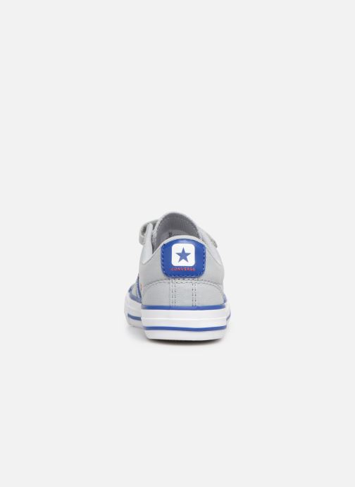 Sneaker Converse Star Player 3V Ox Spring Essentials grau ansicht von rechts