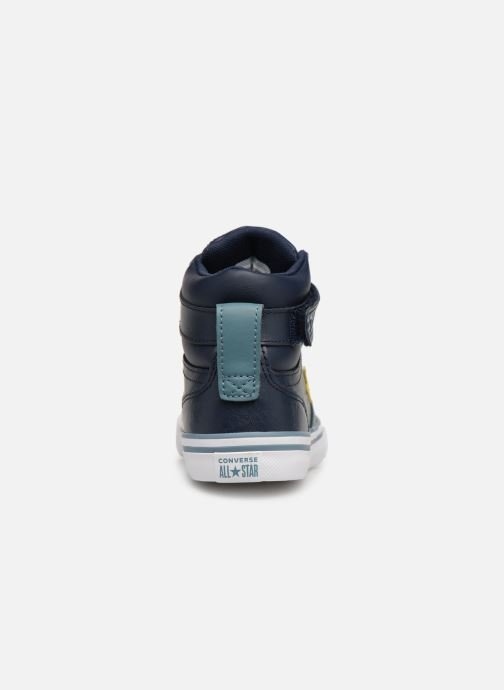Baskets Converse Pro Blaze Strap Hi Spring Essentials Bleu vue droite