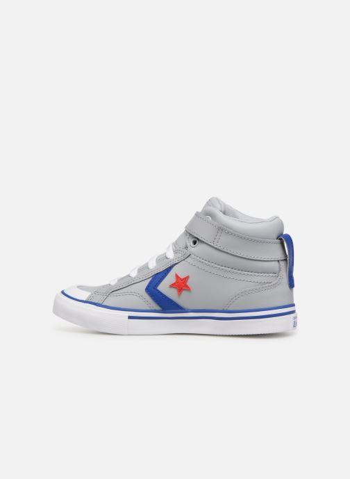 Sneaker Converse Pro Blaze Strap Hi Spring Essentials grau ansicht von vorne