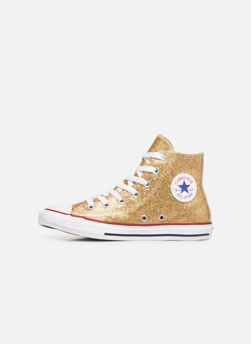 Baskets Converse Chuck Taylor All Star Hi Sport Sparkle Or et bronze vue face