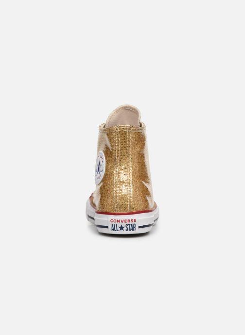 Sneakers Converse Chuck Taylor All Star Hi Sport Sparkle Bronze och Guld Bild från höger sidan