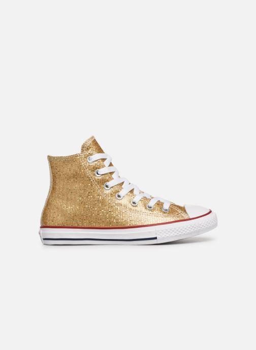 Trainers Converse Chuck Taylor All Star Hi Sport Sparkle Bronze and Gold back view