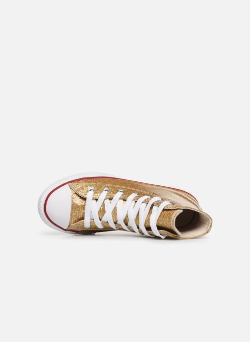 Trainers Converse Chuck Taylor All Star Hi Sport Sparkle Bronze and Gold view from the left