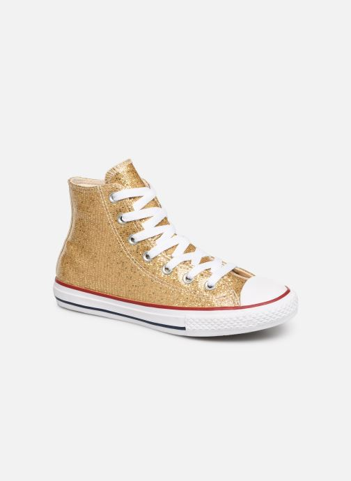 Trainers Converse Chuck Taylor All Star Hi Sport Sparkle Bronze and Gold detailed view/ Pair view