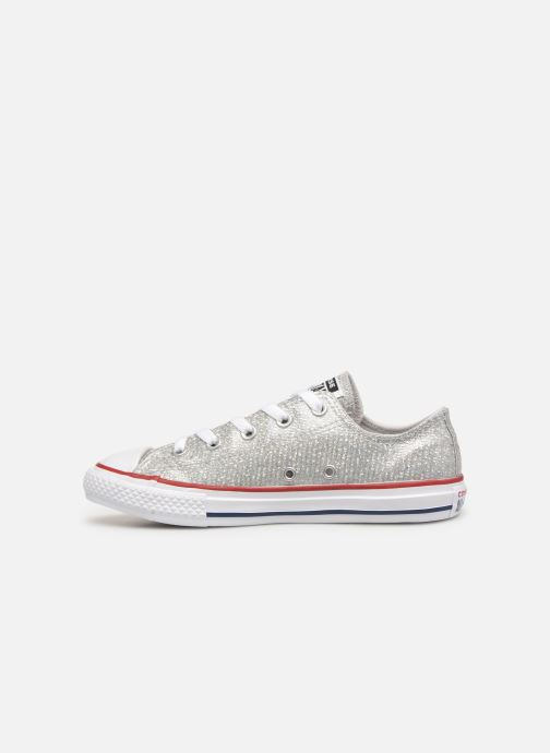 Sneakers Converse Chuck Taylor All Star Ox Sport Sparkle Zilver voorkant