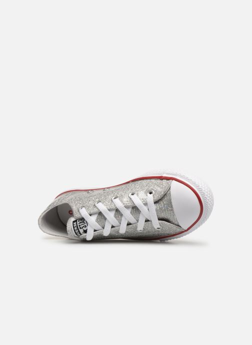 Sneakers Converse Chuck Taylor All Star Ox Sport Sparkle Argento immagine sinistra