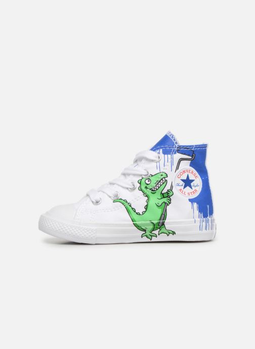 Trainers Converse Chuck Taylor All Star Hi Dinoverse White front view