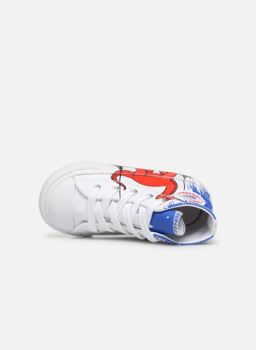 Trainers Converse Chuck Taylor All Star Hi Dinoverse White view from the left