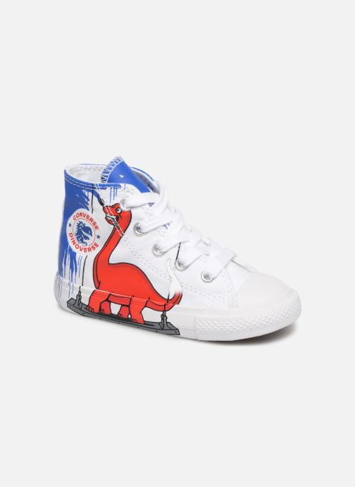71c7126592e6 Trainers Converse Chuck Taylor All Star Hi Dinoverse White detailed view   Pair view