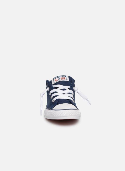 Sneakers Converse Chuck Taylor All Star Street Slip Canvas Azzurro modello indossato