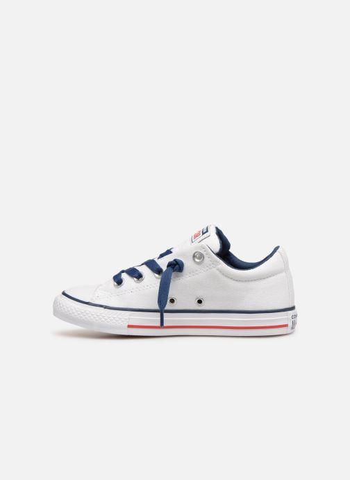 Sneaker Converse Chuck Taylor All Star Street Slip Canvas weiß ansicht von vorne