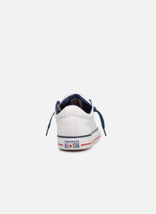 Baskets Converse Chuck Taylor All Star Street Slip Canvas Blanc vue droite
