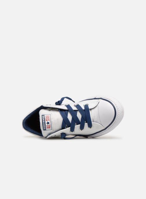 Sneaker Converse Chuck Taylor All Star Street Slip Canvas weiß ansicht von links