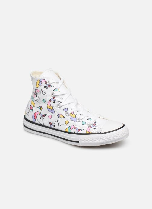 c6982cf7071 Baskets Converse Chuck Taylor All Star Hi Unicorn Print Multicolore vue  détail paire