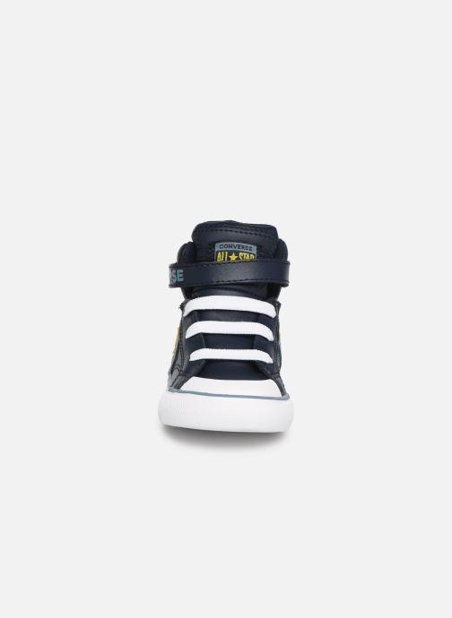Sneaker Converse Pro Blaze Strap Hi Spring Essentials E blau schuhe getragen