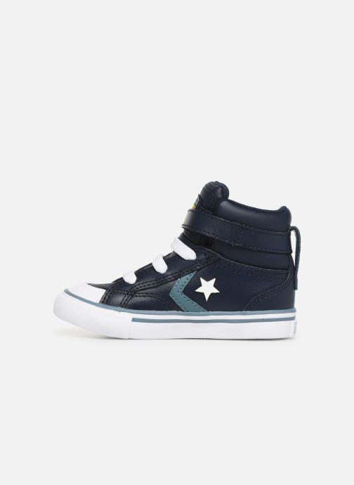Sneaker Converse Pro Blaze Strap Hi Spring Essentials E blau ansicht von vorne