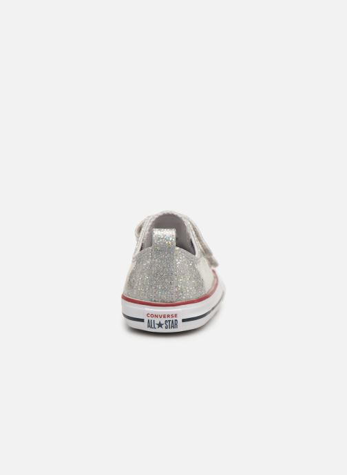 Trainers Converse Chuck Taylor All Star 2V Ox Sport Sparkle Silver view from the right