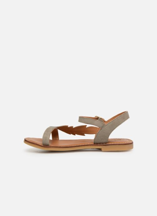 Sandals Adolie Lazar Feather Silver front view