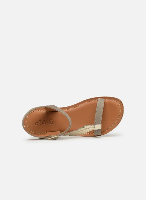 Sandals Adolie Lazar Feather Silver view from the left