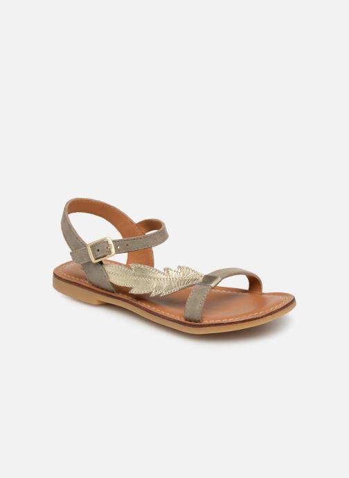 Sandales et nu-pieds Adolie Lazar Feather Argent vue détail/paire