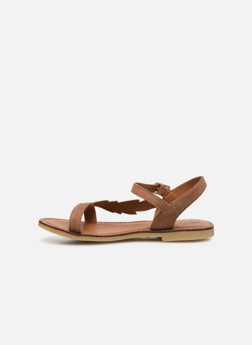 Sandales et nu-pieds Adolie Lazar Feather Marron vue face