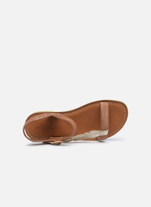 Sandales et nu-pieds Adolie Lazar Feather Marron vue gauche